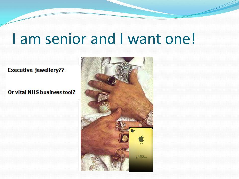 I am senior and I want one!