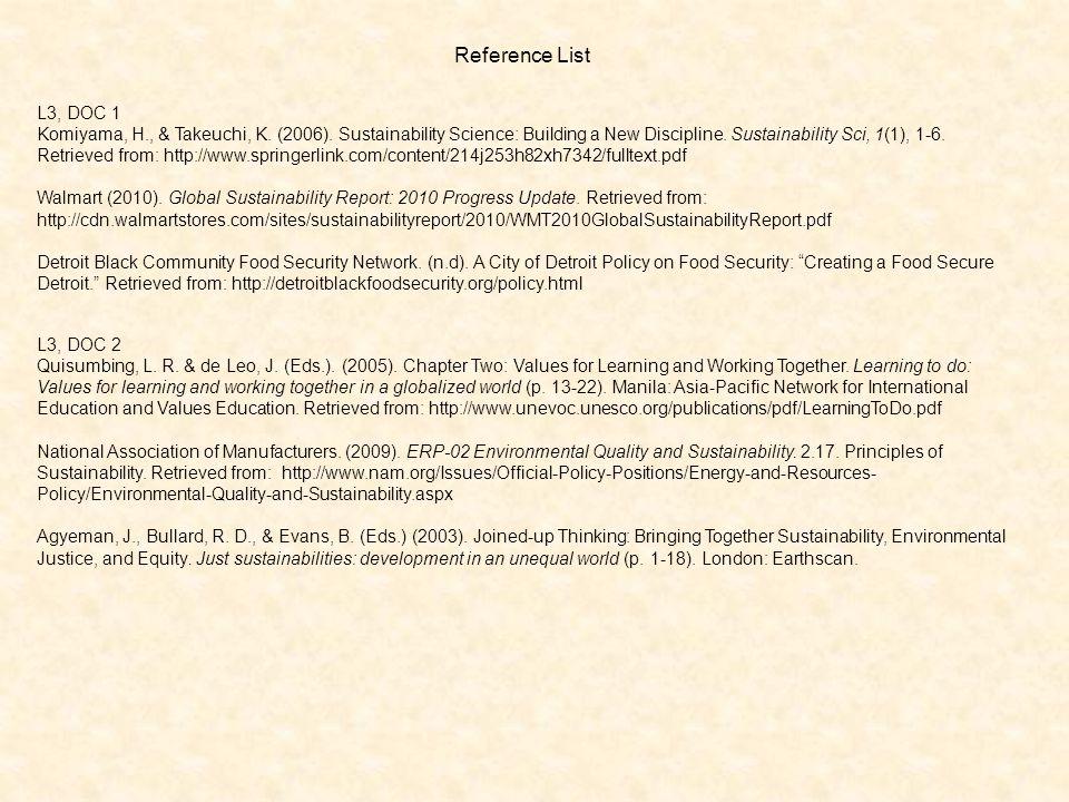 Reference List L3, DOC 1 Komiyama, H., & Takeuchi, K.