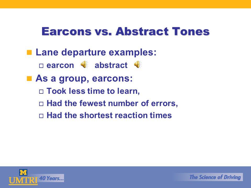 Earcons vs.