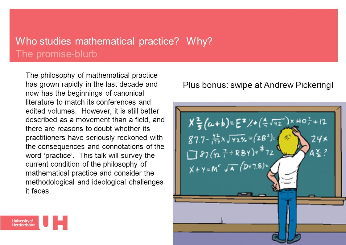 Who studies mathematical practice. Why.