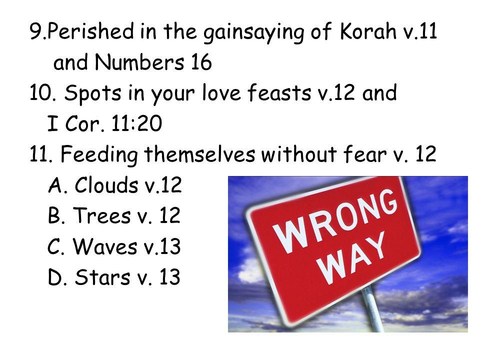 12.Ungodly acts v.15 13. Harsh speeches v. 15 14.