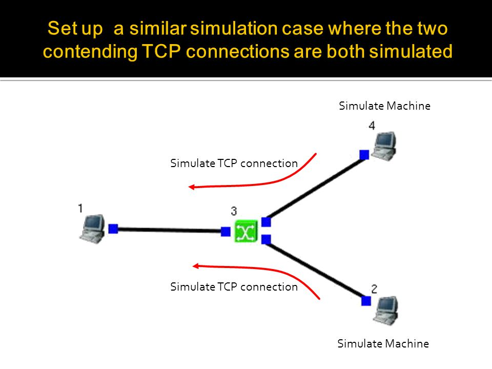 Simulate Machine Simulate TCP connection