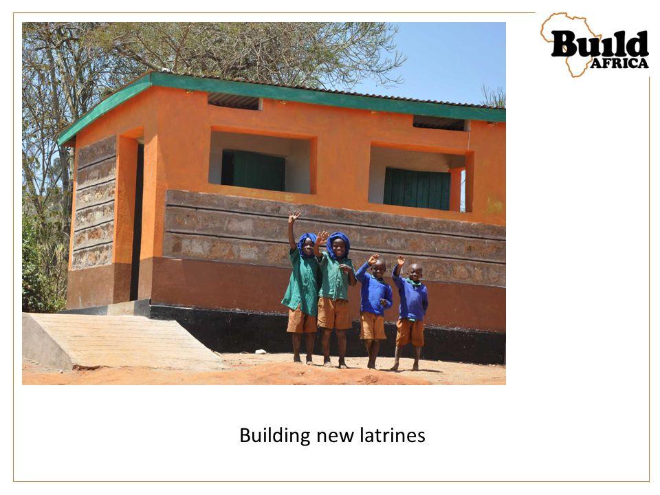 Building new latrines