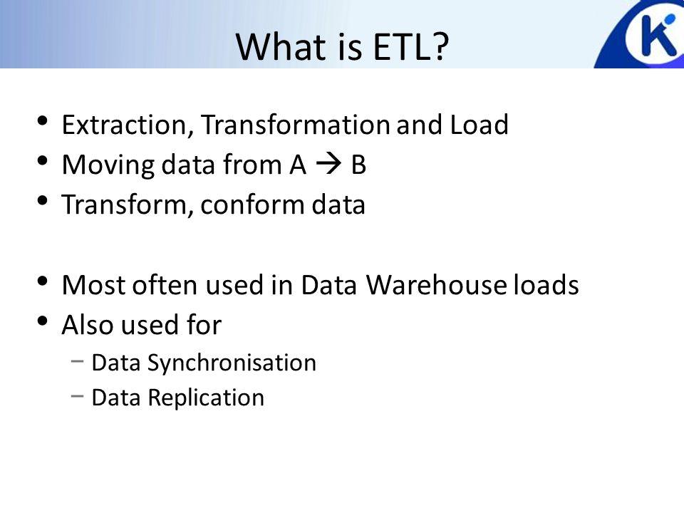 What is ETL.