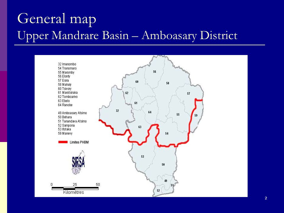 2 General map Upper Mandrare Basin – Amboasary District