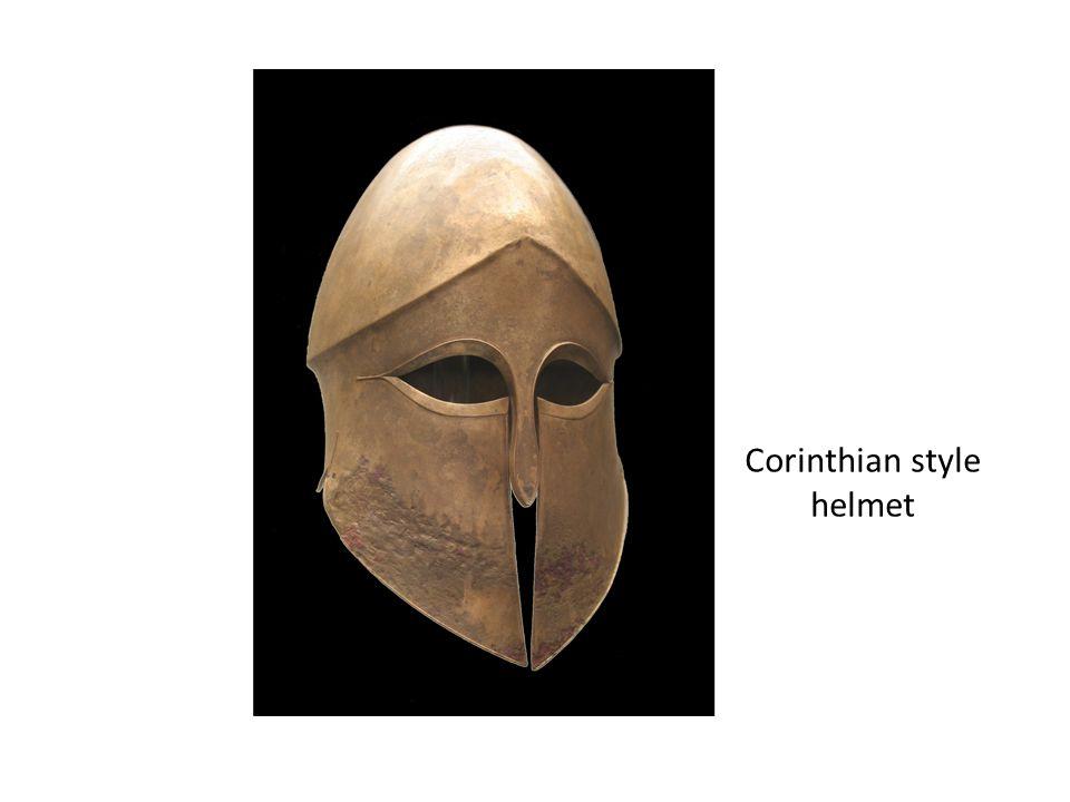 Corinthian style helmet
