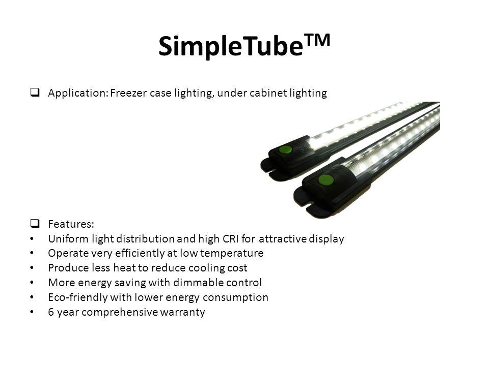 SimpleTube TM 1)STP Series: 12 LED per bank w/ THDi Correction 2)STS Series: 13 LED per bank STP STS