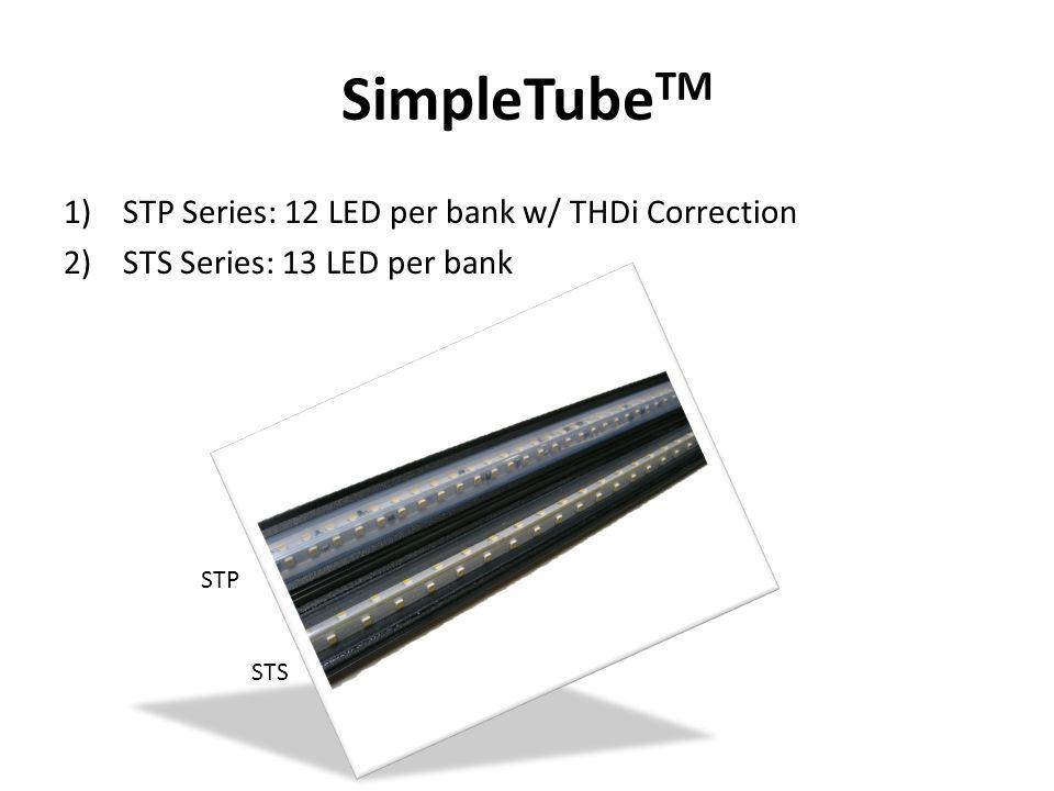 SimpleTube TM CurrentWatt/ft.Lumen/ft.Lumen/Watt Silver STS 20 mA3.219761 STS 25 mA4.022255 Platinum STP 20 mA5.728349 STP 25 mA7.434747