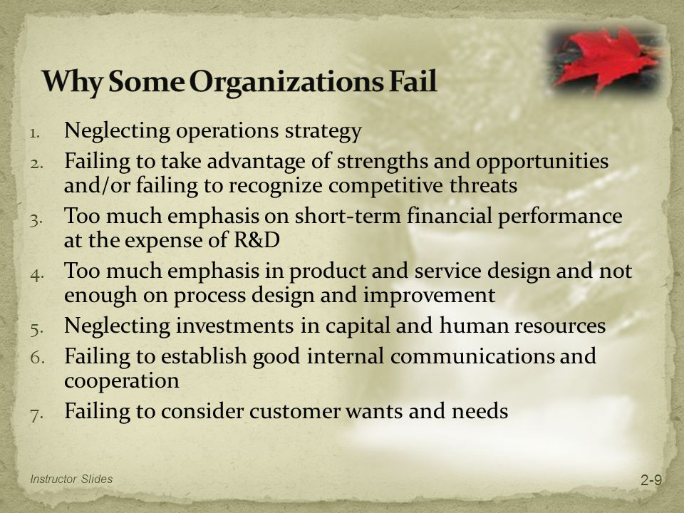 Order qualifiers Characteristics that customers perceive as minimum standards of acceptability for a product or service to be considered as a potential for purchase Order winners Characteristics of an organization's goods or services that cause it to be perceived as better than the competition Instructor Slides 2-20