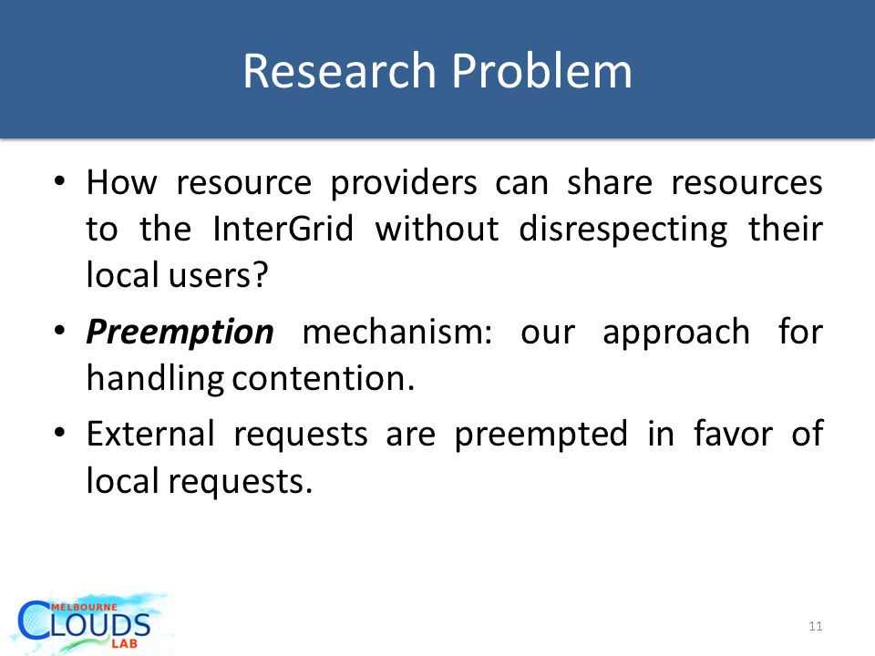 How resource providers can share resources to the InterGrid without disrespecting their local users.