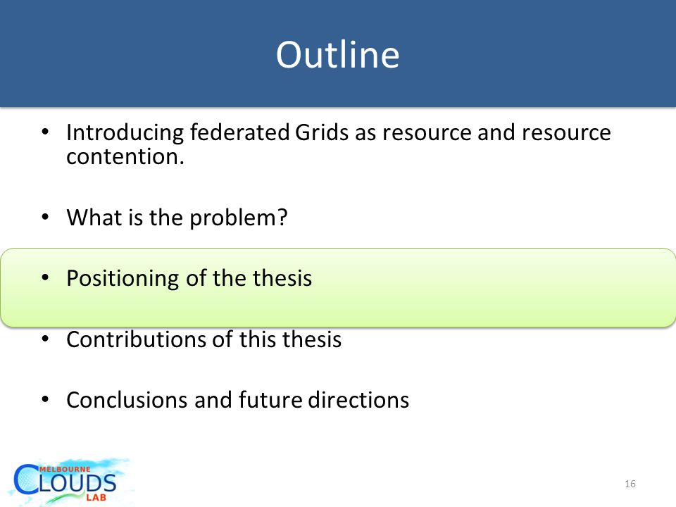 Outline Introducing federated Grids as resource and resource contention.