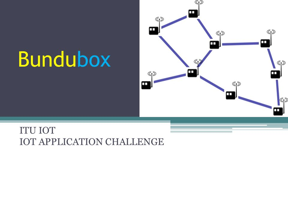 Proposal ▫Main idea ▫Local Communication Issues, Involved Solution ▫Bundubox: Local off the grid ip communication box ▫Features / Benefits / Extends / User Journey Results ▫Benefits for Countries ▫Noteworthy facts Contents