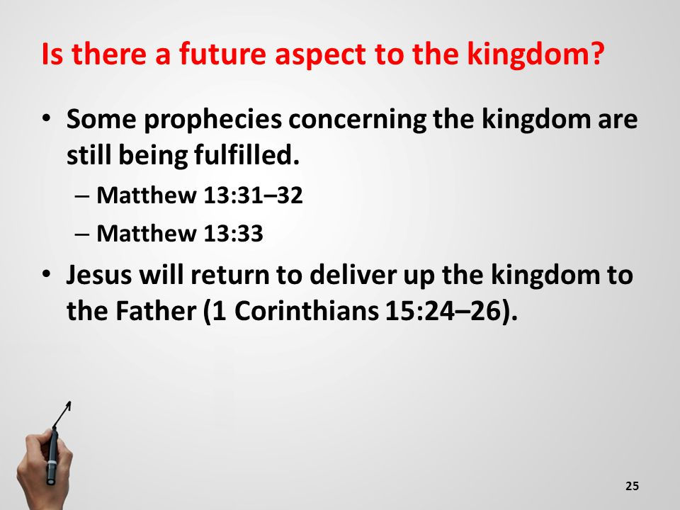 Is there a future aspect to the kingdom.