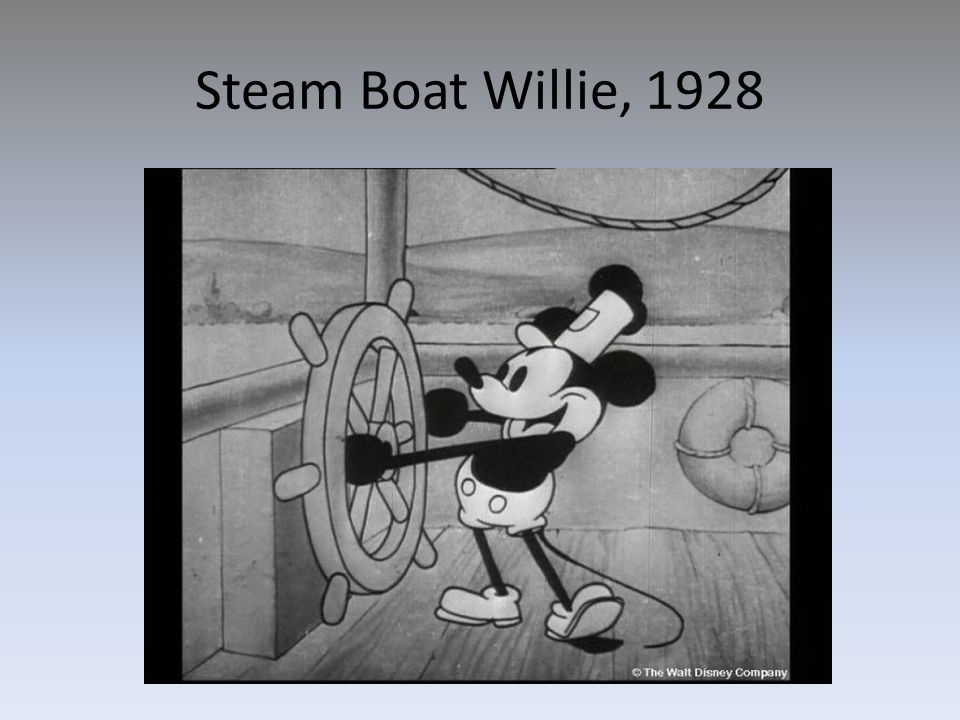 Steam Boat Willie, 1928