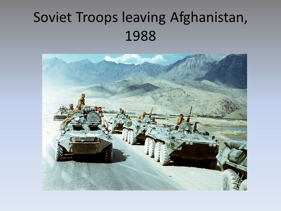 Soviet Troops leaving Afghanistan, 1988
