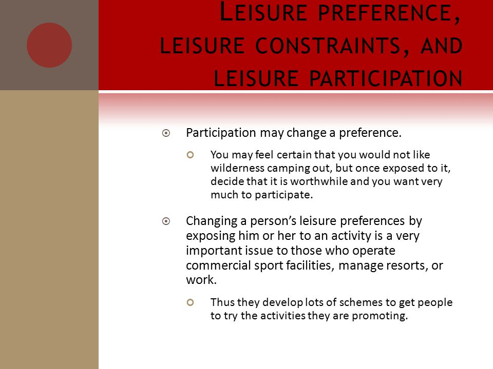  Participation may change a preference.