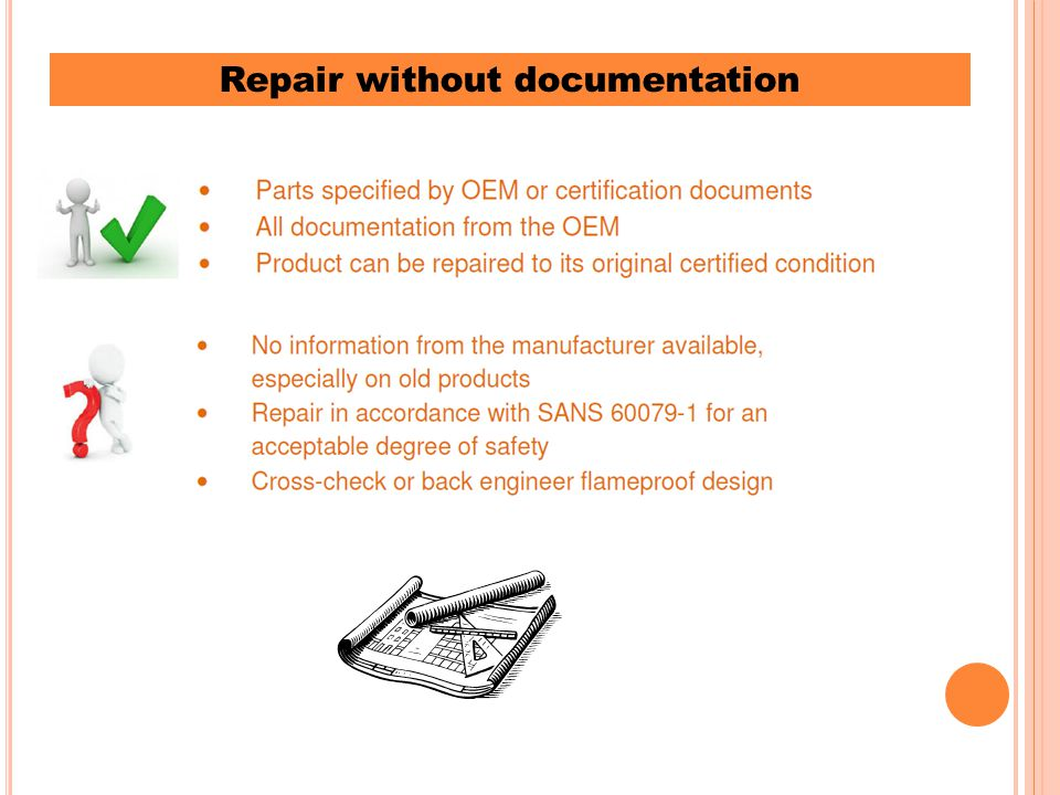 Repair without documentation
