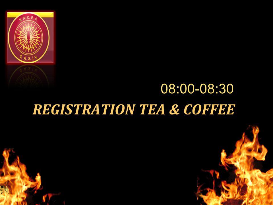 REGISTRATION TEA & COFFEE 08:00-08:30