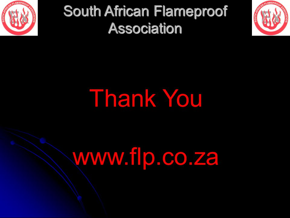 South African Flameproof Association Thank You www.flp.co.za