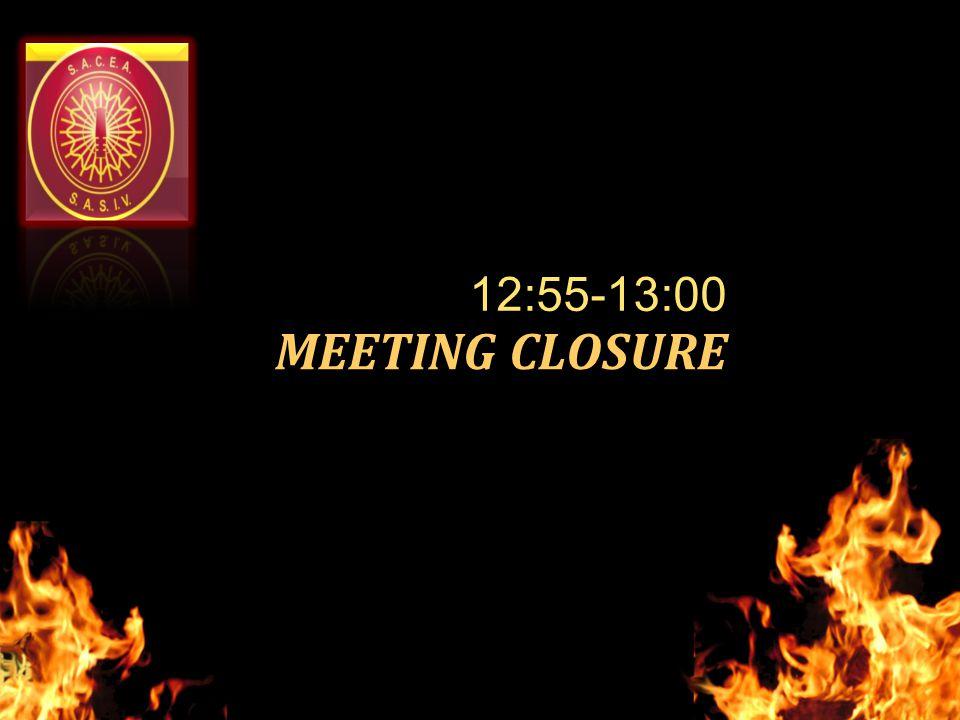 MEETING CLOSURE 12:55-13:00