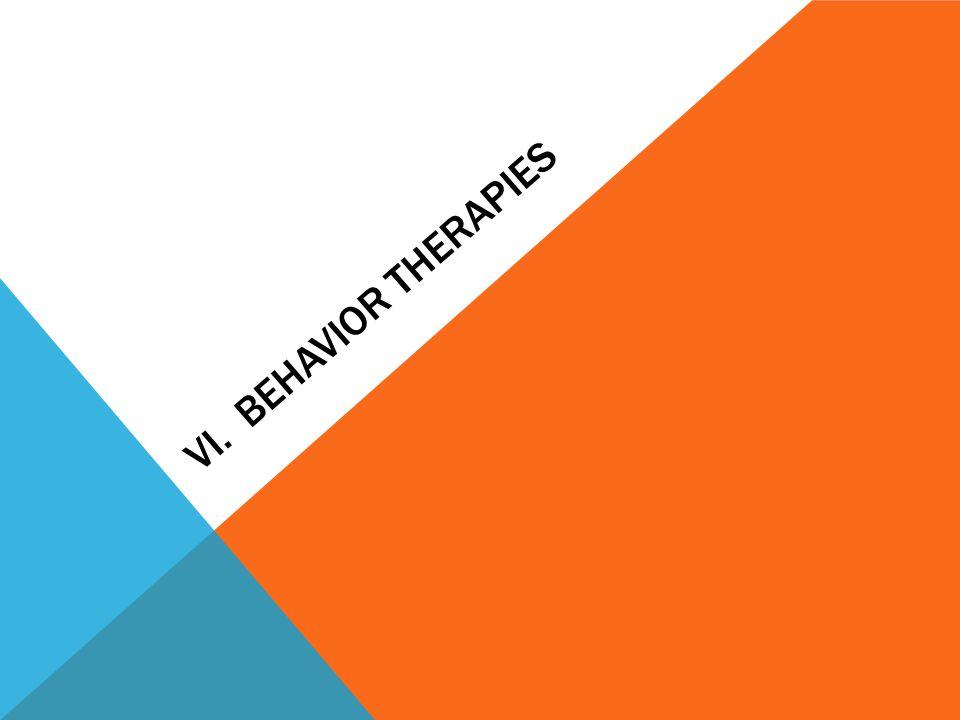 VI. BEHAVIOR THERAPIES