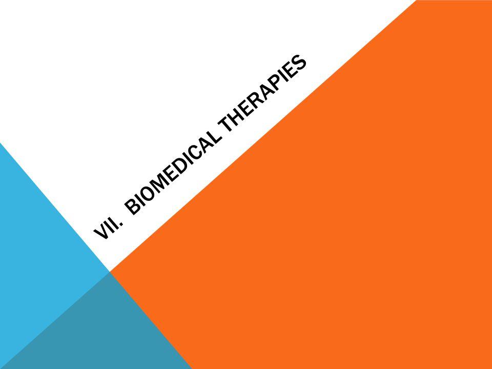 VII. BIOMEDICAL THERAPIES