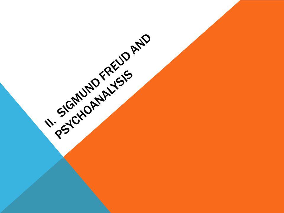 II. SIGMUND FREUD AND PSYCHOANALYSIS