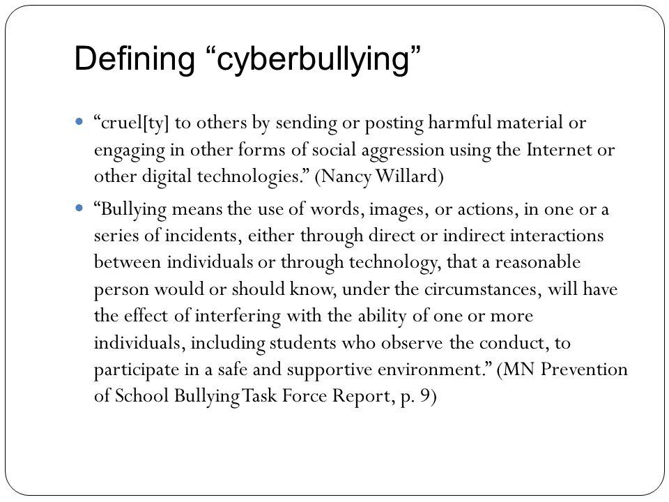 Cyberbullying vs.