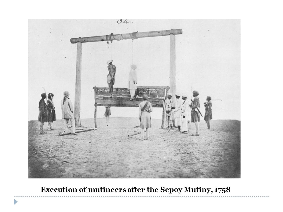 Execution of mutineers after the Sepoy Mutiny, 1758