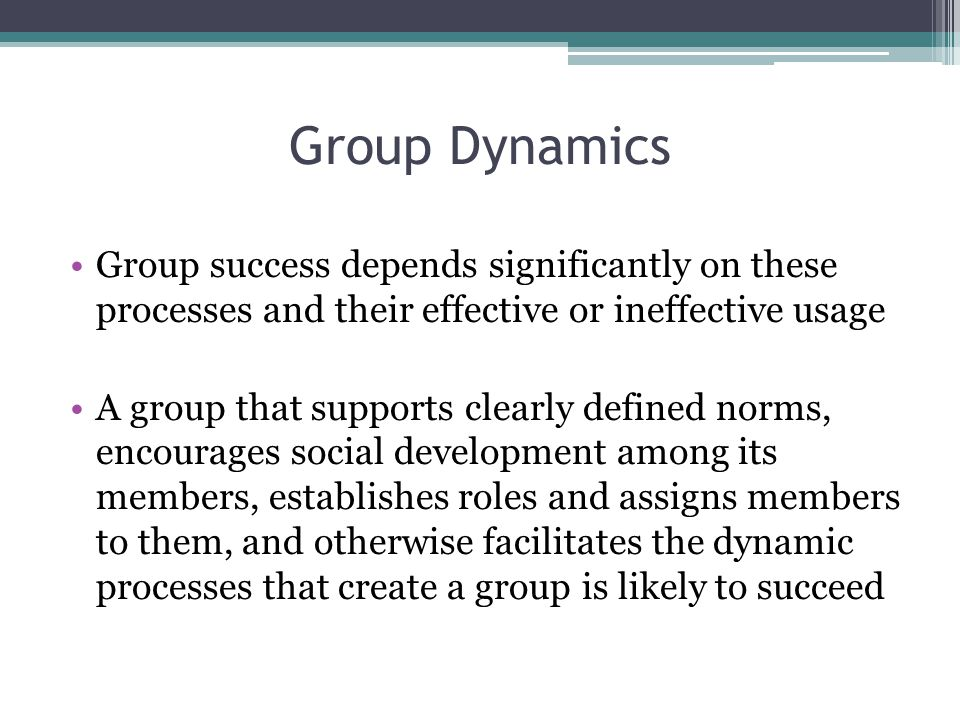 reflection on group dynamics