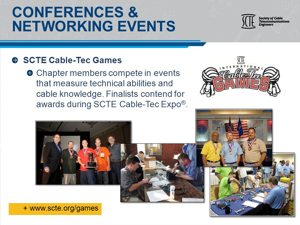 SCTE Cable-Tec Games Chapter members compete in events that measure technical abilities and cable knowledge.