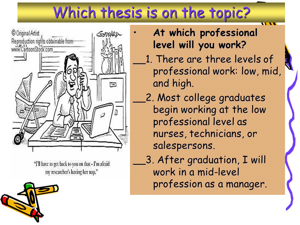 Which thesis is on the topic.