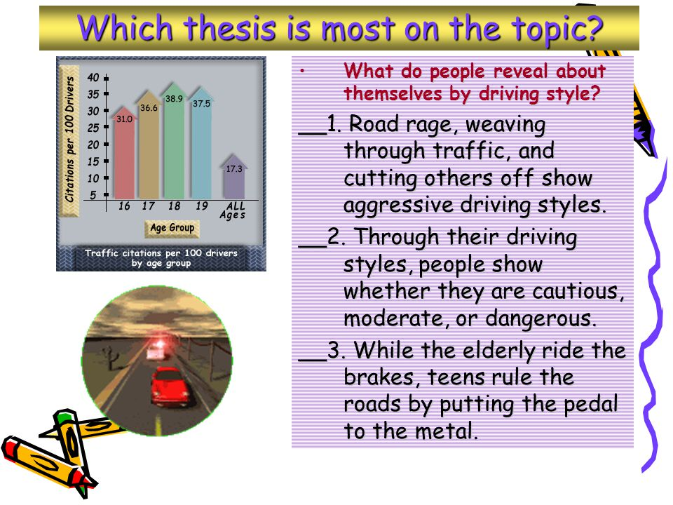 Which thesis is most on the topic.