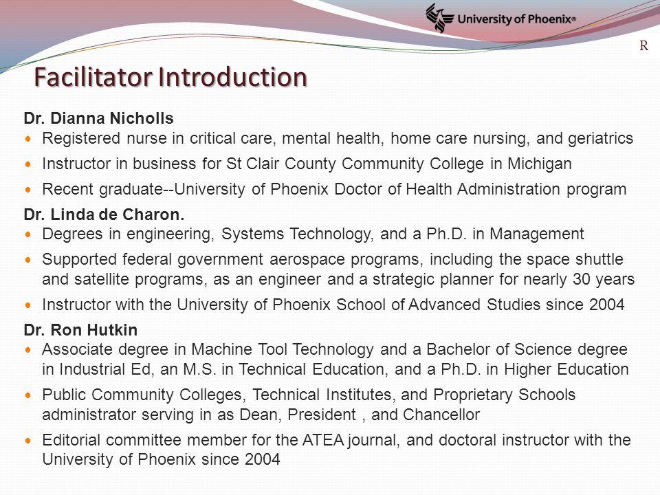 Facilitator Introduction Dr.