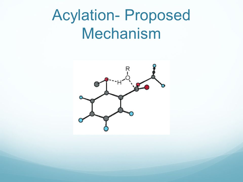 Acylation- Proposed Mechanism
