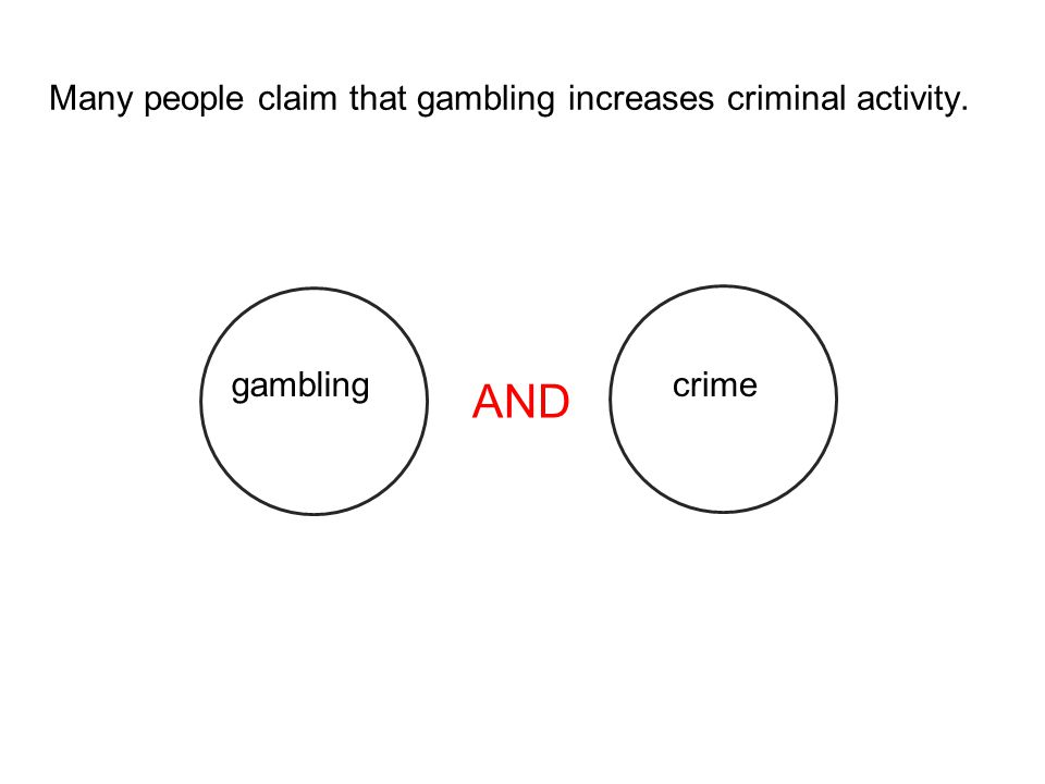 Many people claim that gambling increases criminal activity.
