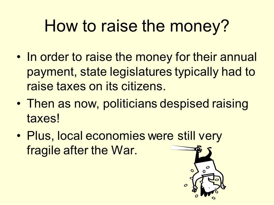 How to raise the money.