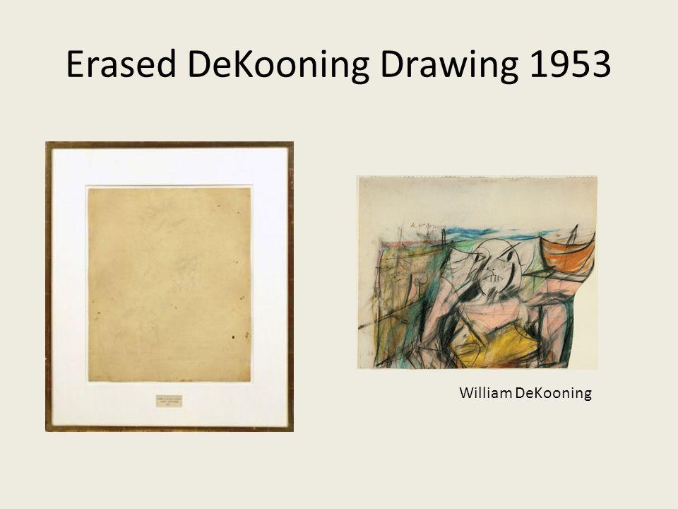 Erased DeKooning Drawing 1953 William DeKooning