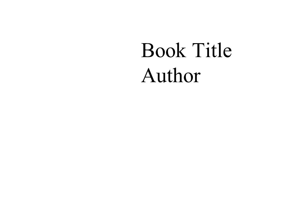Book Title Author