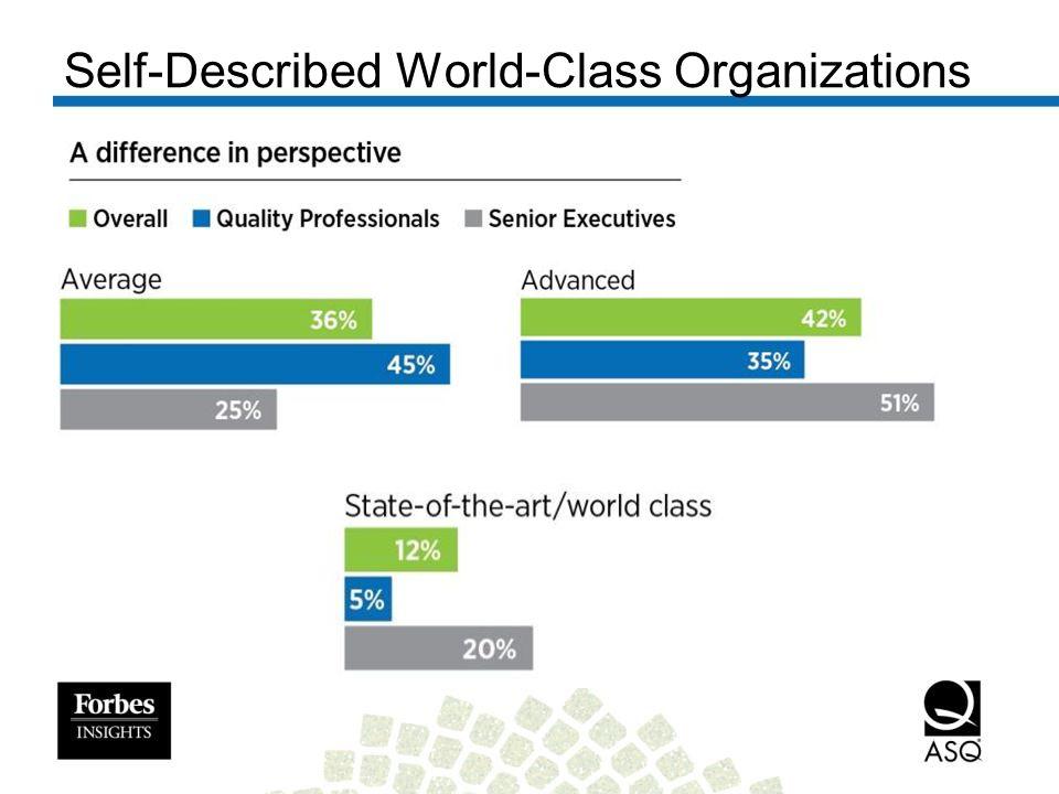 Self-Described World-Class Organizations