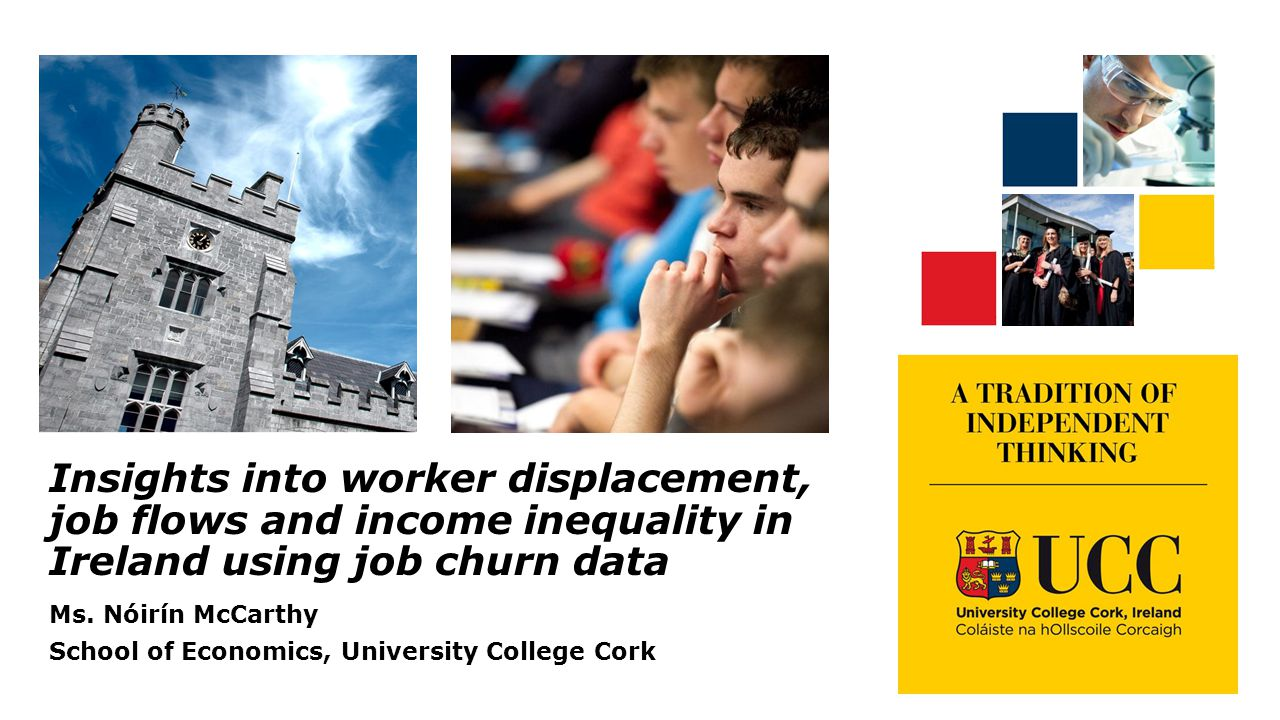 Insights into worker displacement, job flows and income inequality in Ireland using job churn data Ms.