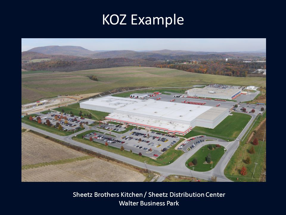 KOZ Example Sheetz Brothers Kitchen / Sheetz Distribution Center Walter Business Park