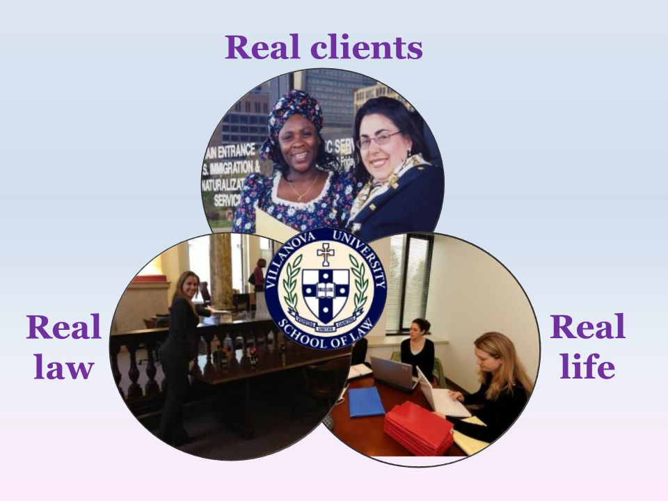 VILLANOVA LAW CLINIC Real clients Real law Real life VILLANOVA LAW CLINIC