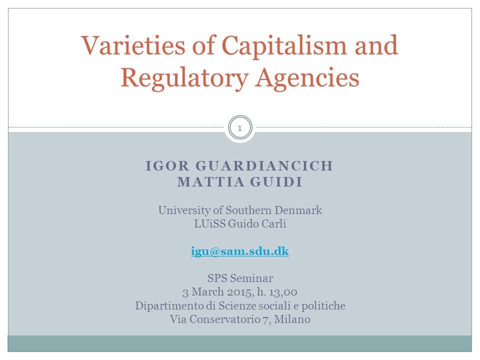 Varieties of capitalism 12