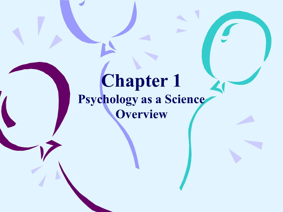 Chapter 1 Psychology as a Science Overview
