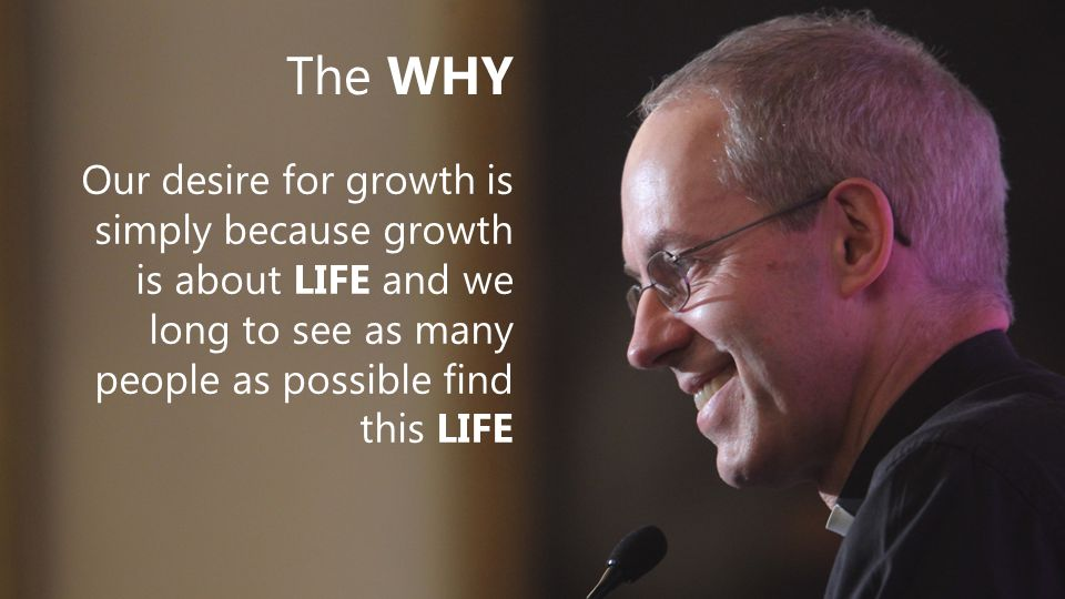 The WHY Our desire for growth is simply because growth is about LIFE and we long to see as many people as possible find this LIFE