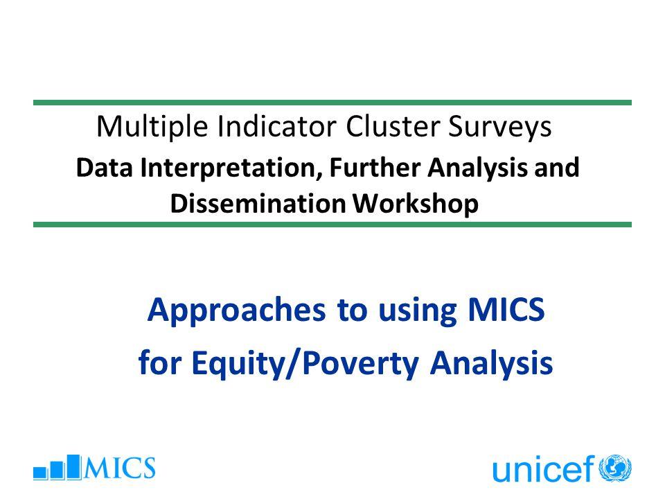 Multidimensional Poverty Indices Outline  Consumption/income poverty  Wealth Index  Bristol Child Deprivation Index  Multidimensional Poverty Index (MPI)  New Contribution (MODA)  Critics  Examples 2