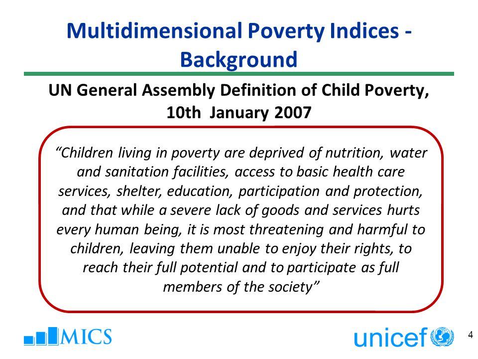 Multidimensional Poverty Indices PEARSON CORR.