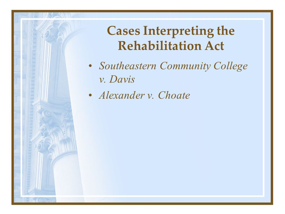 Supreme Court Decision (Decided June 22, 1999) The Supreme Court held that under Title II of the ADA, States are required to place persons with mental disabilities in community settings instead of institutions when: 1.Their treatment professionals have determined that community placement is appropriate, 2.The community placement is not opposed by the individual, and 3.The placement can be reasonably accommodated, taking into account the resources available to the State and the needs of others with mental disabilities.