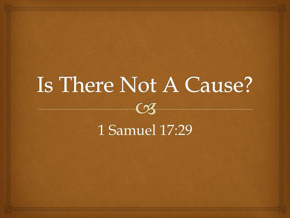1 Samuel 17:29